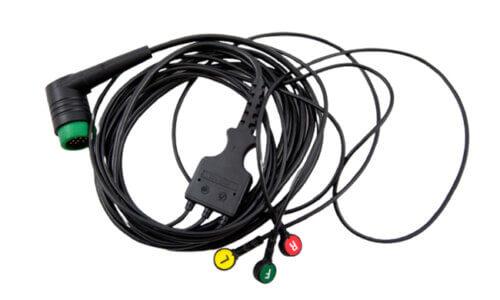 3-Lead ECG Cable - Lifepak 12-15-20 (1)